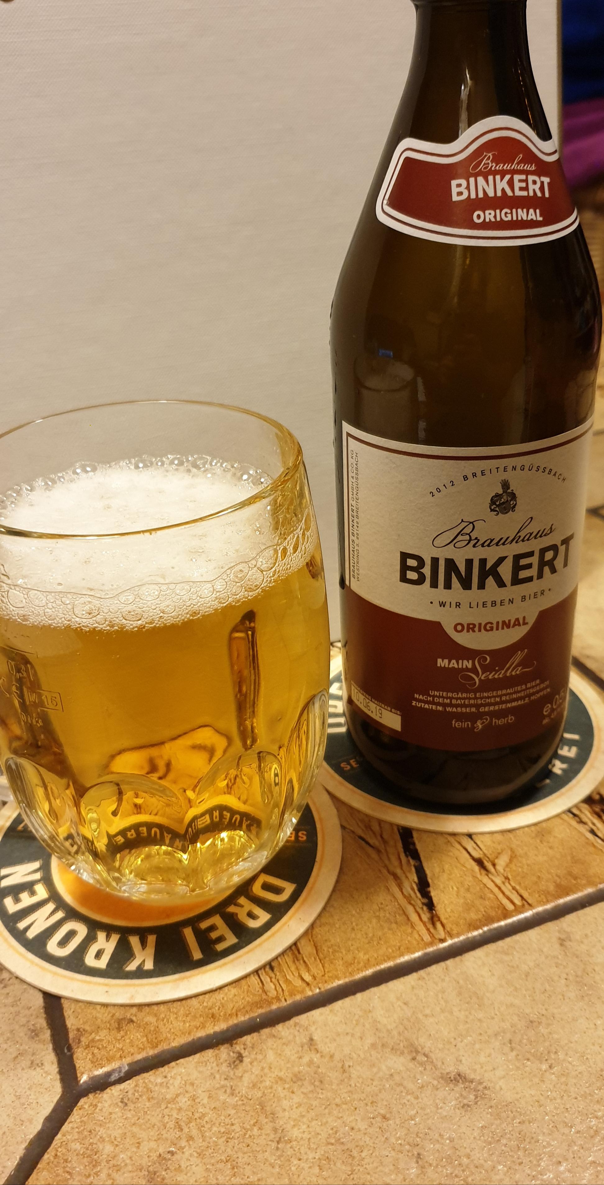 Biertestserie Oberfranken : Brauhaus Binkert – Main Seidla Original