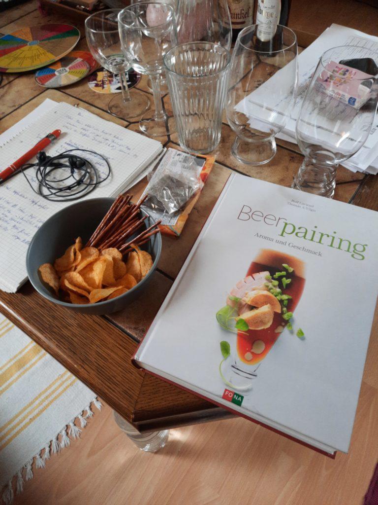 Food Pairing Aufbau für den Kurs